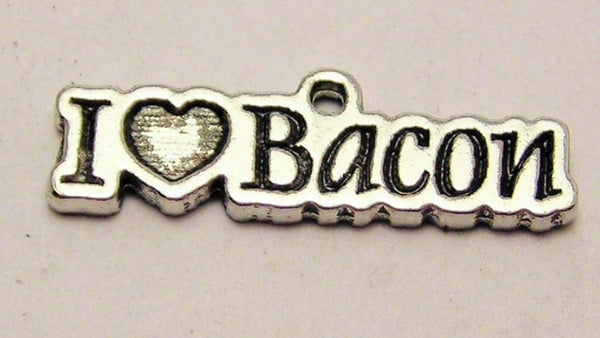 I Love Bacon Genuine American Pewter Charm