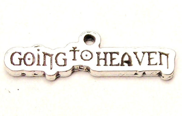 Going To Heaven Genuine American Pewter Charm
