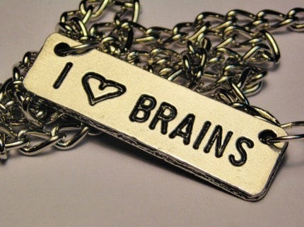 I Love Brains Statement Platform Necklace