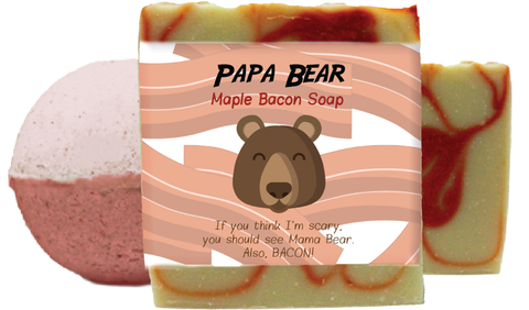 Papa Bear Maple Bacon Scented Bath Gift Set
