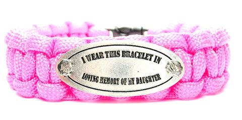 I Wear This In Loving Memory Of My Daughter 550 Military Spec Paracord Bracelet