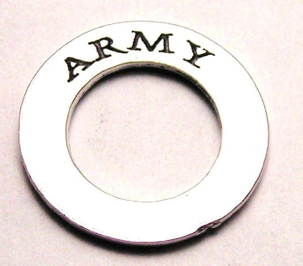 Army Affirmation Ring Genuine American Pewter Charm