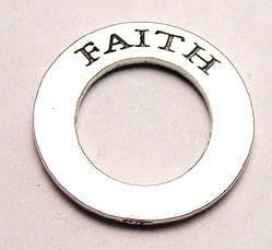 Faith Affirmation Ring Genuine American Pewter Charm