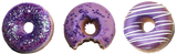 Donut Scented Soap Set Of 3 Purple