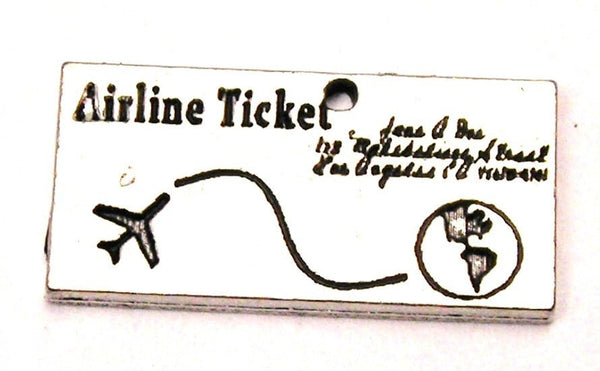 Airline Ticket Genuine American Pewter Charm