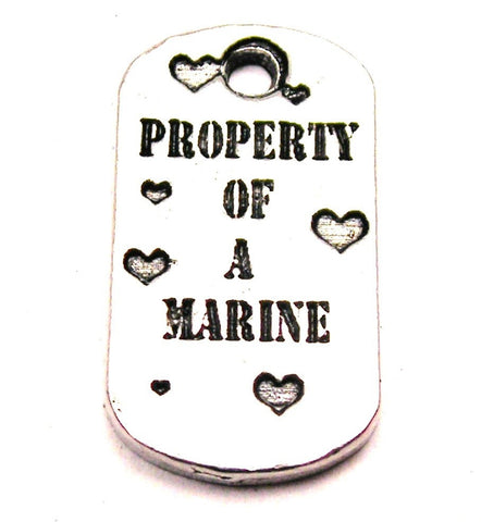 Property Of A Marine Genuine American Pewter Charm