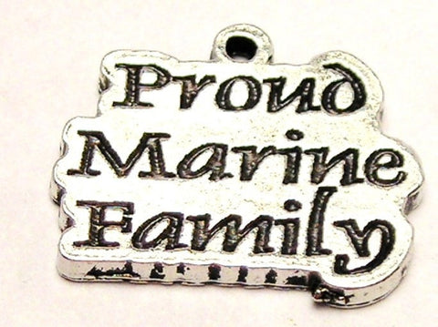Proud Marine Family Genuine American Pewter Charm