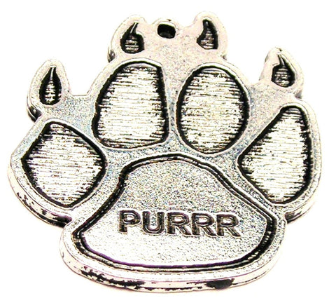 Purrr Cat Paw Genuine American Pewter Charm