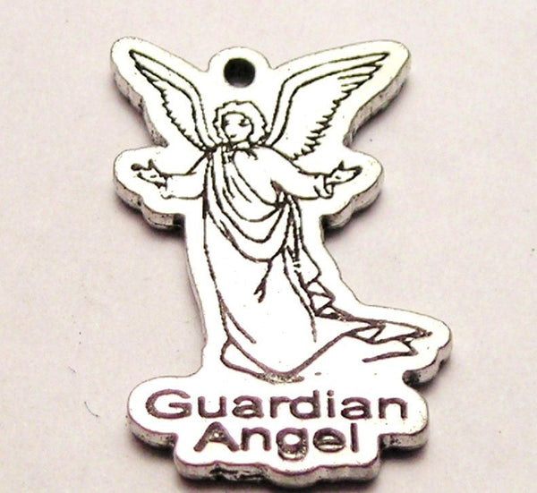 Guardian Angel Genuine American Pewter Charm