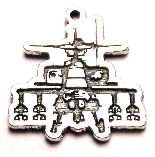 Apache Helicopter Genuine American Pewter Charm