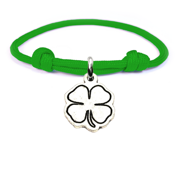 Good Luck Shamrock Adjustable Paracord Bracelet