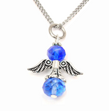 Birthstone Guardian Angel Charm Necklace