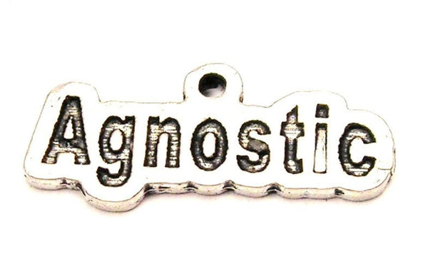 Agnostic Genuine American Pewter Charm