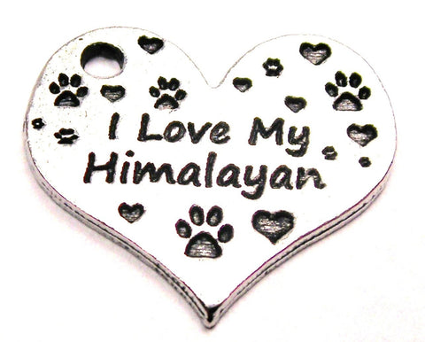 I Love My Himalayan Heart Genuine American Pewter Charm