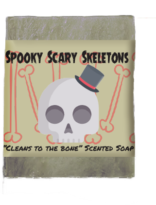 Spooky Scary Skeletons Soap Bar