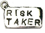 Risk Taker Genuine American Pewter Charm