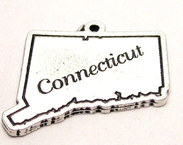 Connecticut Genuine American Pewter Charm