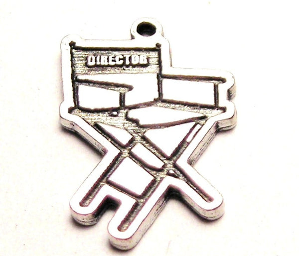 Director Chair Genuine American Pewter Charm
