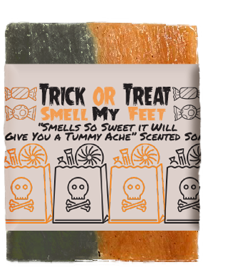 Trick Or Treat Smell My Feet Kids Soap Bar