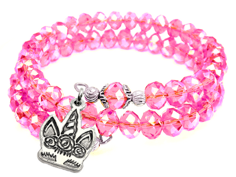 Unicorn Lashes Crystal Wrap Bracelet
