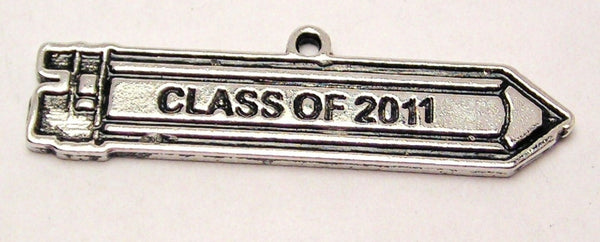 Class Of 2011 Pencil Graduation Genuine American Pewter Charm
