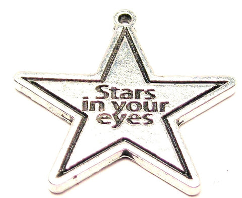 Stars In Your Eyes Genuine American Pewter Charm
