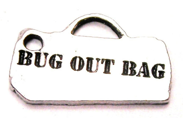 Bug Out Bag Genuine American Pewter Charm