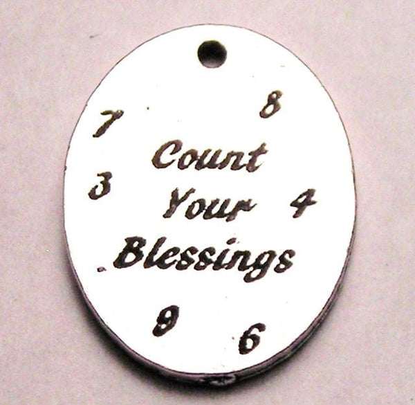 Count Your Blessings Circle Genuine American Pewter Charm