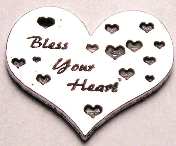Bless Your Heart With All Floating Little Hearts Genuine American Pewter Charm