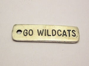 Go Wildcats Genuine American Pewter Charm