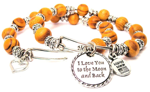 Detailed I Love You To The Moon And Back Bracelet