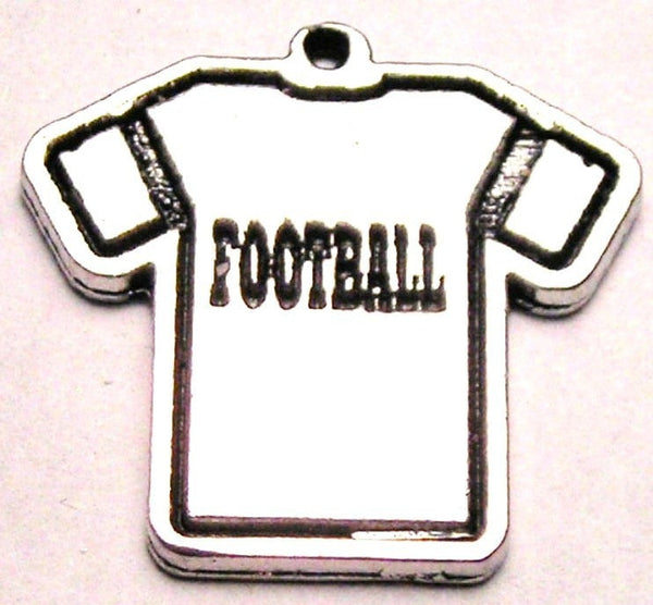 Football Jersey Genuine American Pewter Charm