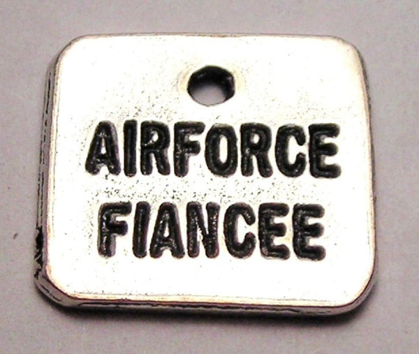 Air Force Fiancée Genuine American Pewter Charm