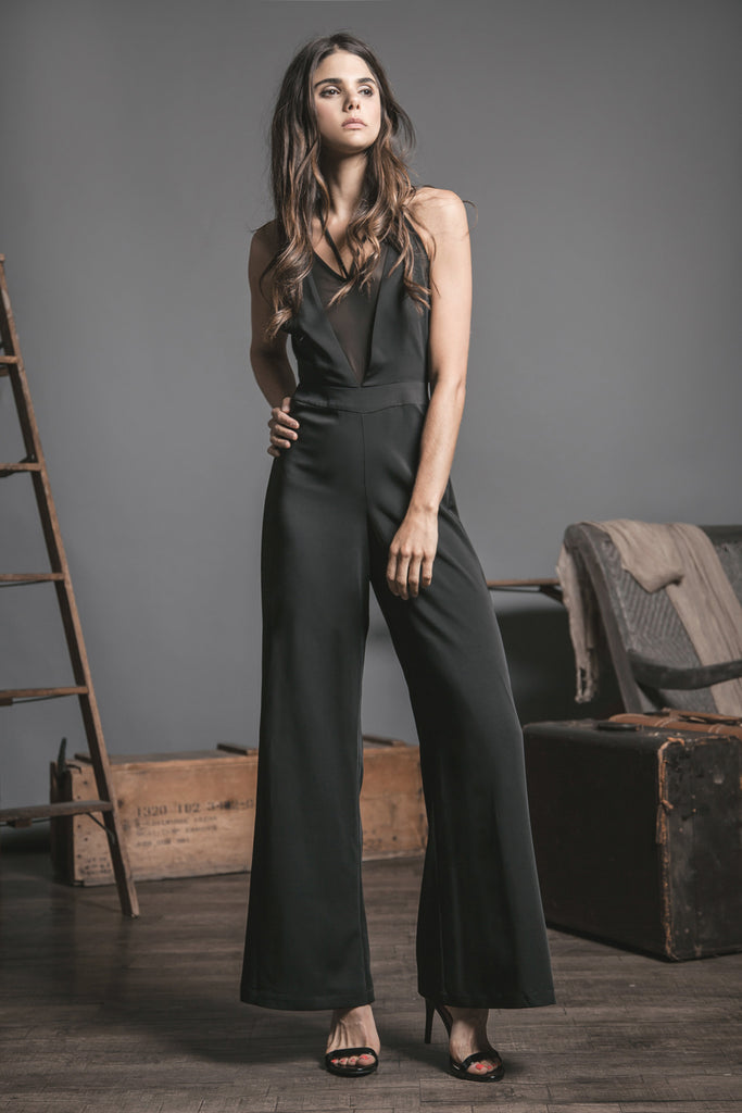FITTED AND FLARED JUMPSUIT