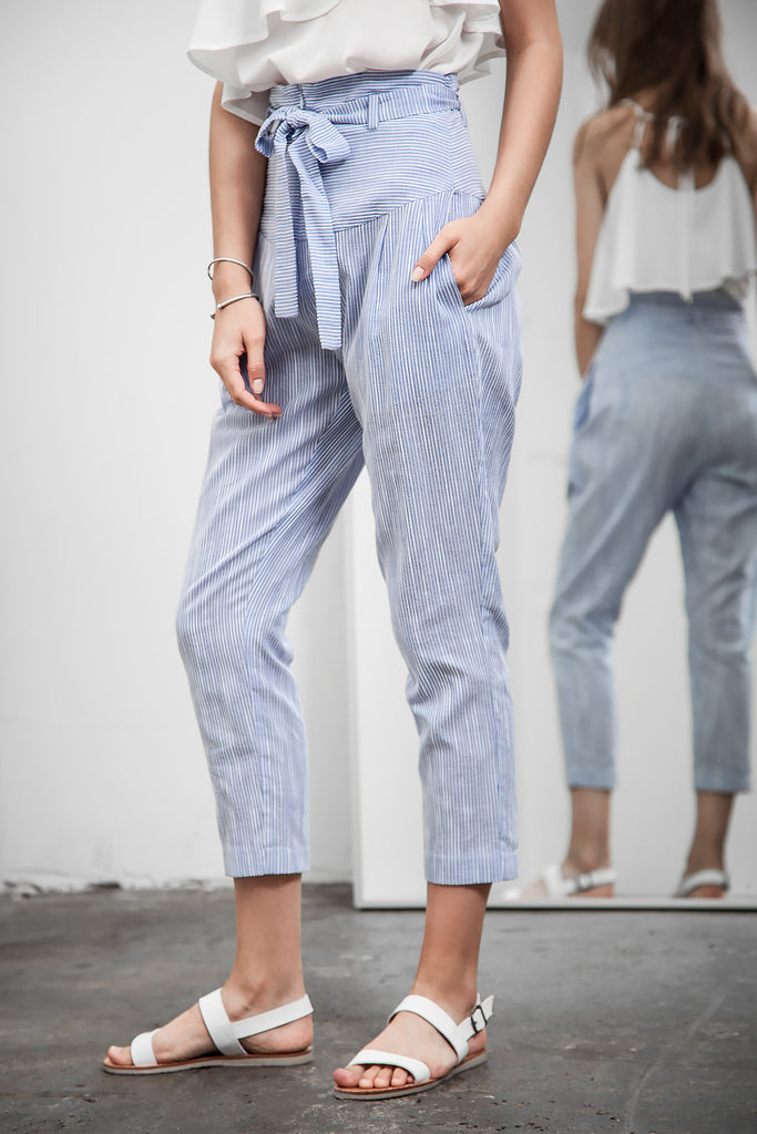 HIGH WAISTED TAPERED PANTS