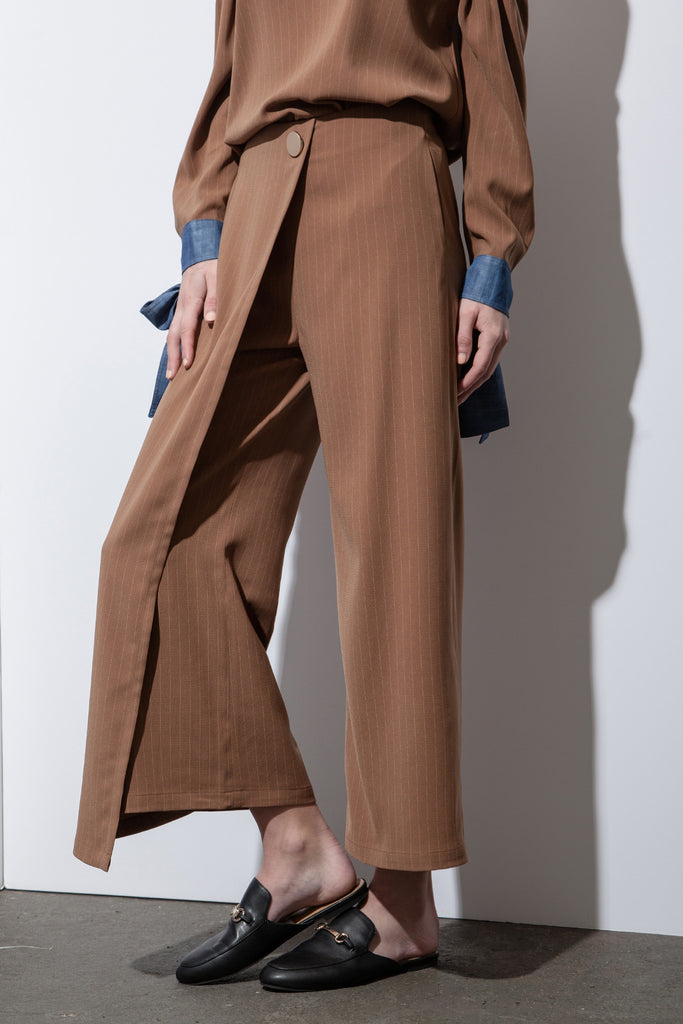 OVERLAPPED WIDE LEG PANT