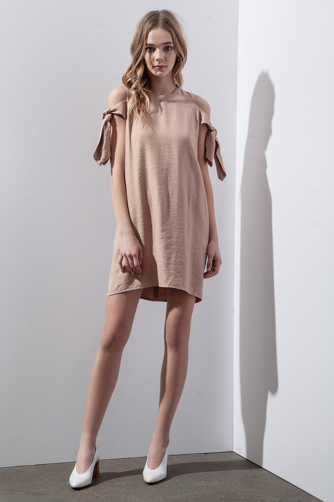 SIDE TIE SHIFT DRESS