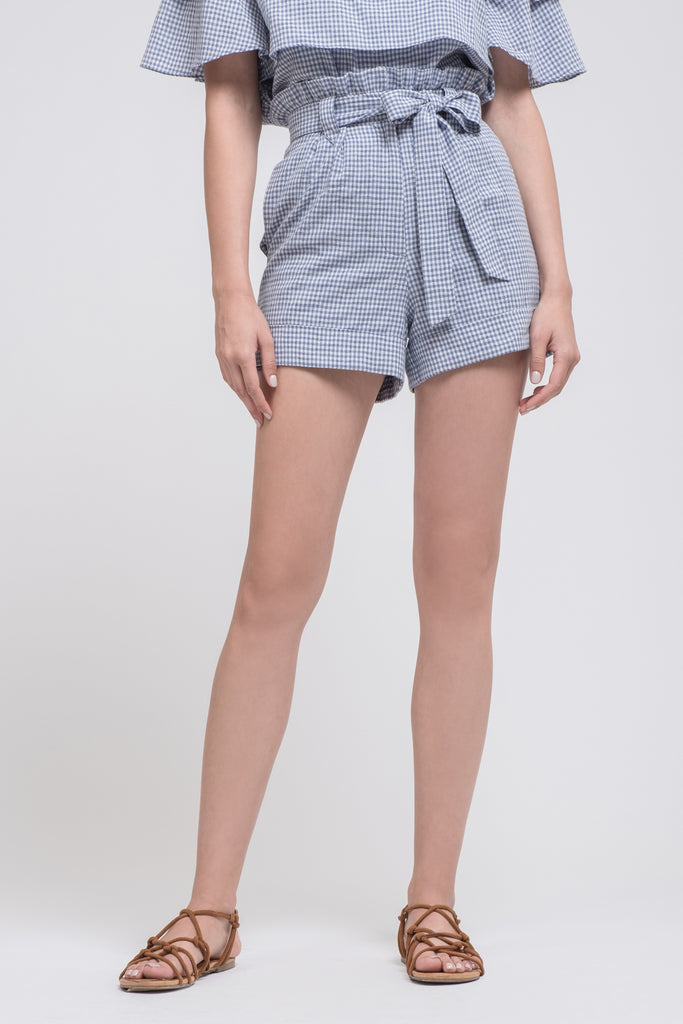 PAPER BAG SHORTS WITH ROLL UP HEM