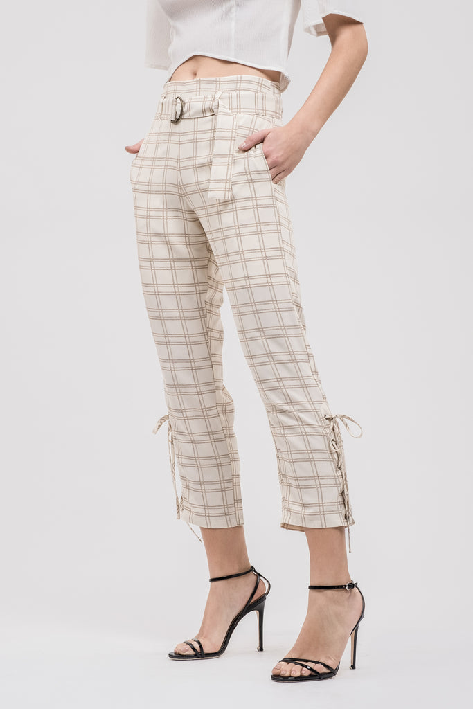 SIDE LACE UP PANTS