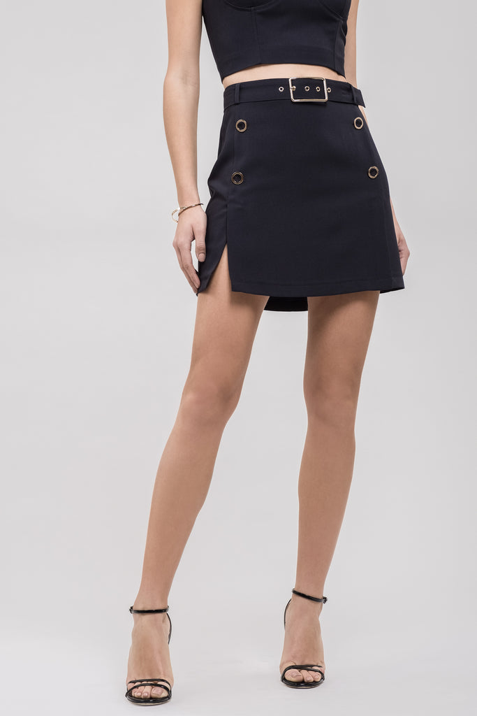 BUTTON DETAIL SKIRT