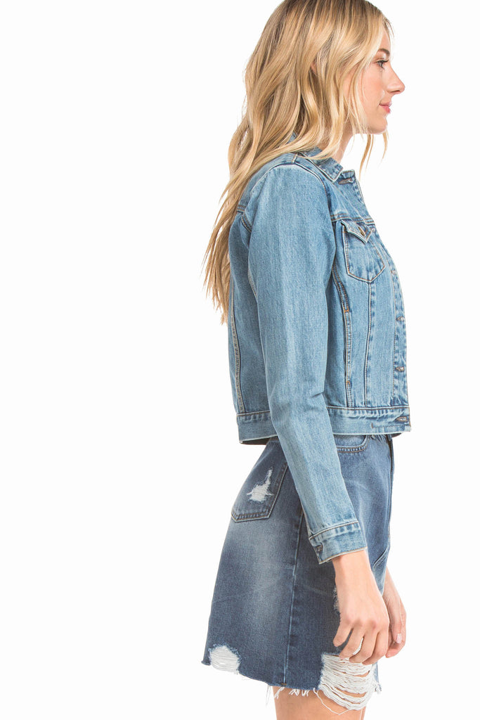 EVIDNT BASIC FITTED DENIM JACKET