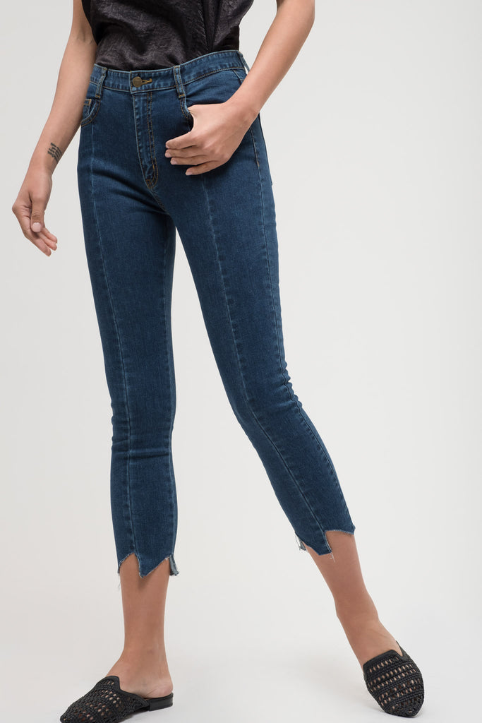 EVIDNT CUT EDGE SKINNY JEANS