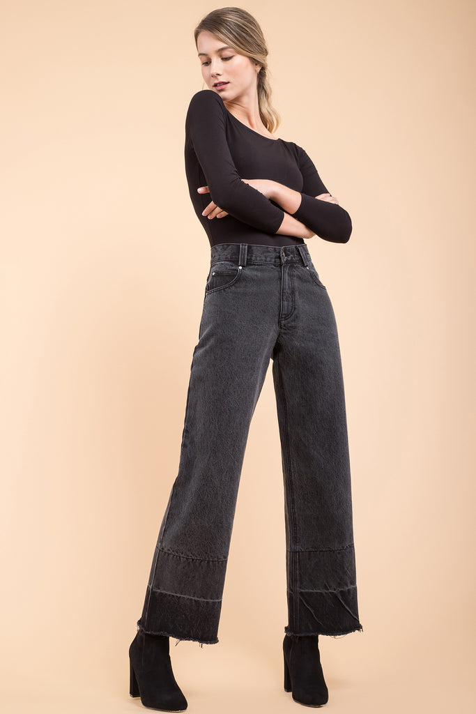 EVIDNT HIGH WAISTED WIDE LEG JEANS