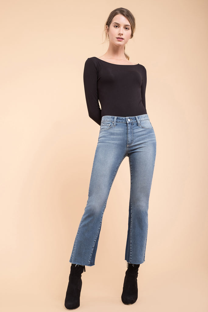 EVIDNT COLOR BLOCKED FLARE JEANS