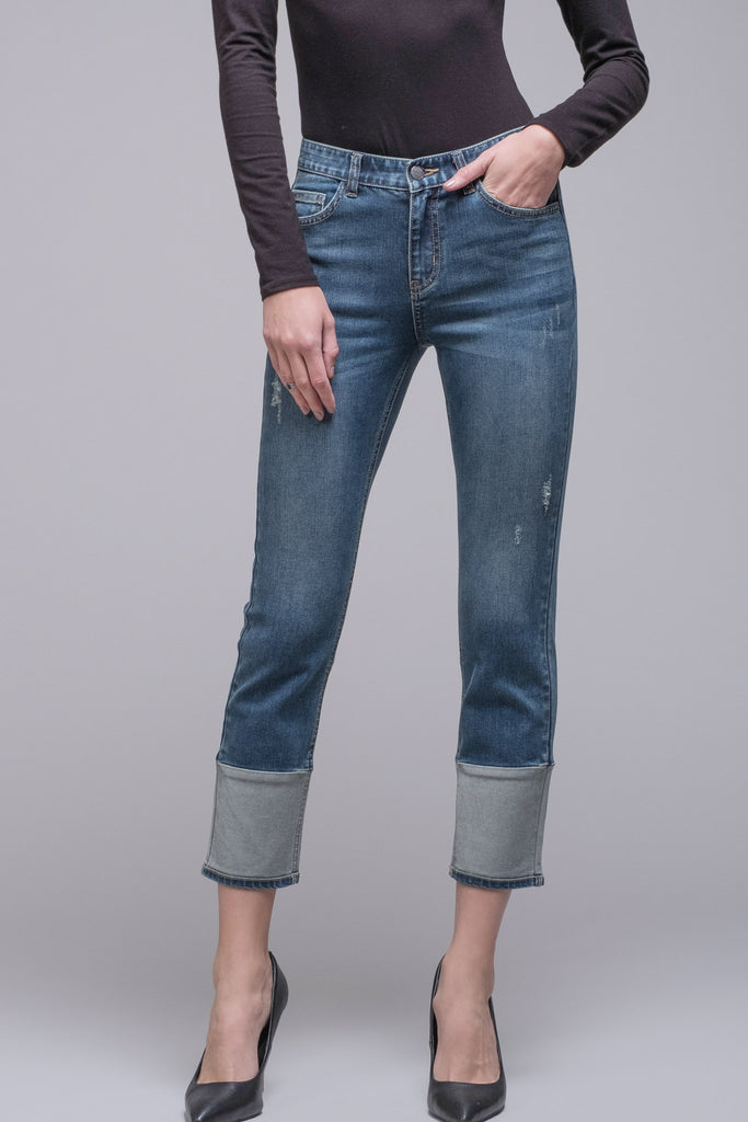 EVIDNT TWO TONE SLIM JEANS