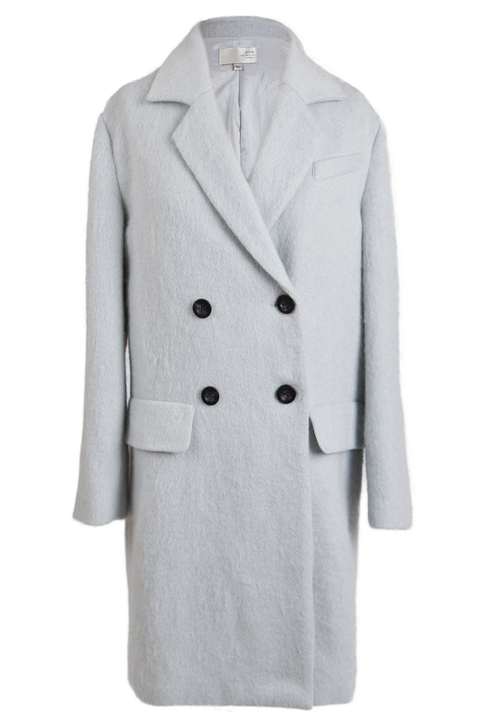 DOUBLE BREASTED COAT WITH NOTCHED COLLAR