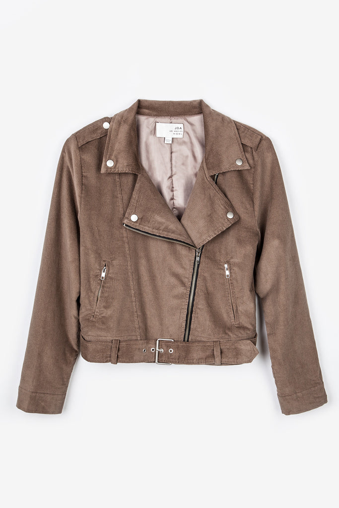LONG SLEEVE SUEDE MOTORCYCLE JACKET