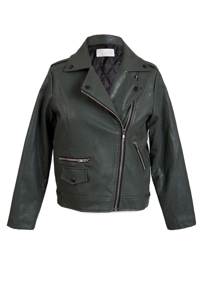 LONG SLEEVE LEATHER MOTORCYCLE JACKET