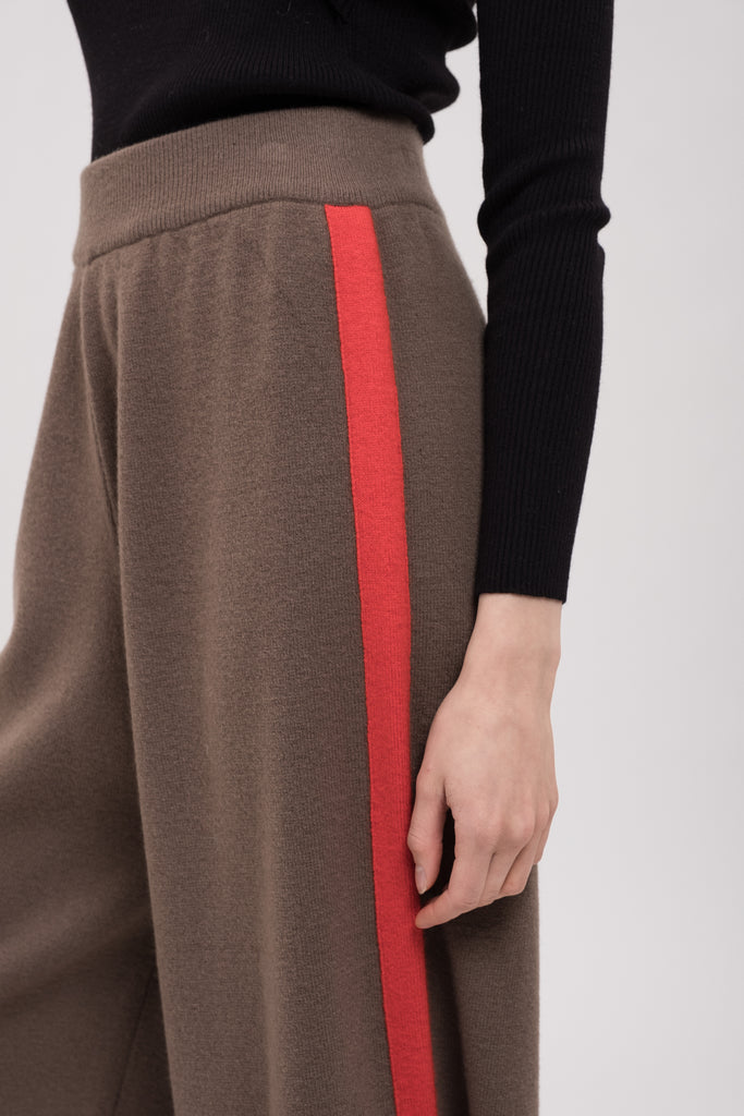 COLORBLOCK SIDE WIDE LEG KNIT PANT