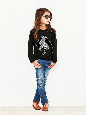 Black Zebra Long Sleeved T-shirt - WAS $34.95 - NOW $15.00